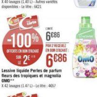 Lessive Liquide Omo chez Géant Casino (25/11 – 08/12)