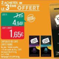 Café en Capsules Carte Noire chez Match (13/11 – 24/11)