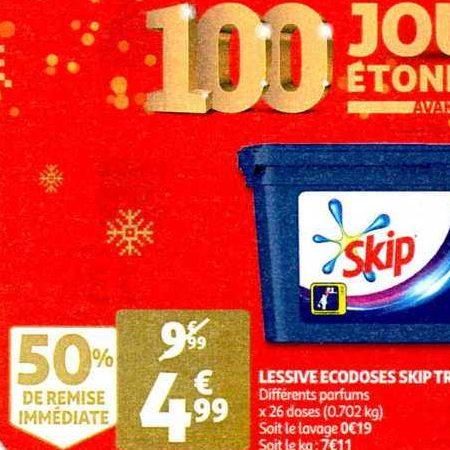 Lessive en Capsules Skip chez Auchan (27/11 – 03/12)