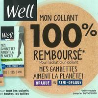 Offre de Remboursement Well : Collants Mes Gambettes aiment la planète 100% Remboursés
