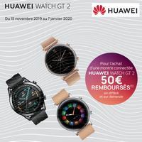 Offre de Remboursement Huawei : 50€ Remboursés sur  Montre Connectée Watch GT 2