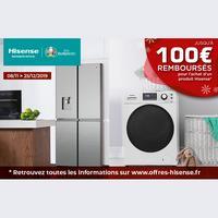 Offre de Remboursement Hisense : Jusqu'à 100€ Remboursés sur Electroménager