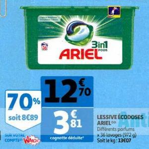 Lessive en Capsules Ariel chez Auchan (06/11 – 12/11)