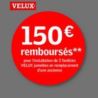 Offre de Remboursement Velux : 150€ Remboursés sur Fenêtres Jumelées