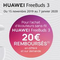 Offre de Remboursement Huawei : 20€ Remboursés sur Ecouteurs sans-fil FreeBuds 3