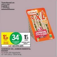 Sandwich XXL Daunat chez Intermarché (19/11 – 01/12)