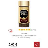 Nescafé Spécial Filtre 200g chez Intermarché (18/11 – 30/11)