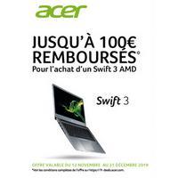 Offre de Remboursement Acer : Jusqu'à 100€ Remboursés sur Ultraportable SWIFT 3