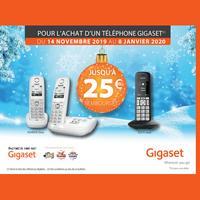Offre de Remboursement Gigaset : Jusqu'à 25€ Remboursés sur Téléphone