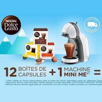 **Vente flash** Machine Dolce Gusto + 12 boîtes de capsules à 55,08€