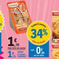Sandwich XXL Daunat chez Leclerc (19/11 – 30/11)
