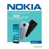 Offre de Remboursement Nokia : Jusqu'à 30€ Remboursés sur Smartphone 6.2