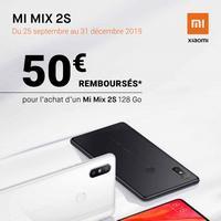 Offre de Remboursement Xiaomi : 50€ Remboursés sur Smartphone Mi Mix 2S 128 Go