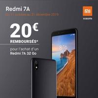 Offre de Remboursement Xiaomi : 20€ Remboursés sur Smartphone Redmi 7A 32 Go chez SFR