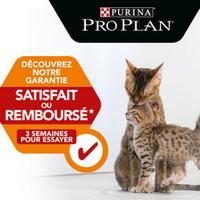 Offre de Remboursement Pro Plan : Croquette pour chat Satisfait ou 100% Remboursé