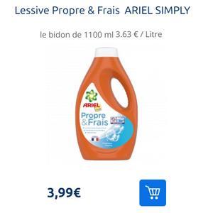 Lessive Ariel Propre & Frais Simply partout