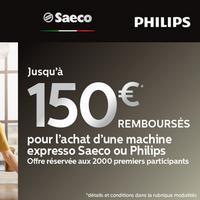 Offre de Remboursement Philips : Jusqu'à 150€ Remboursés sur Machine Expresso Saeco