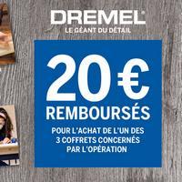 Offre de Remboursement Bosch : 20€ Remboursés sur Coffret multi-usage Dremel