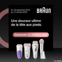 Offre d'Essai Braun : Epilateur Satisfait ou 100% Remboursé