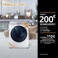 Offre de Remboursement Samsung : Jusqu'à 100€ ou 200€ Remboursés sur Lave-Linge ou Sèche-Linge