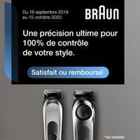 Offre d'Essai Braun : Tondeuse à Barbe Satisfait ou 100% Remboursé