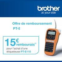Offre de Remboursement Brother : 15€ Remboursés sur Etiqueteuse P-touch