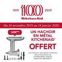 Bon Plan KitchenAid : Hâchoir en Métal Offert