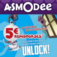 Offre de Remboursement Asmodée : 5€ Remboursés sur Unlock! Adventures - anti-crise.fr