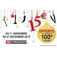 Offre de Remboursement Facom : 15€ Remboursés par Tranches de 100€ d'Achat