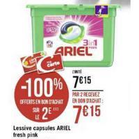 Lessive Ariel Pods 3en1 Pink chez Géant Casino (25/11 – 08/12)