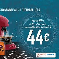 Offre de Remboursement Philips : Machine SENSEO® Viva café, Original, Quadrante à 44€