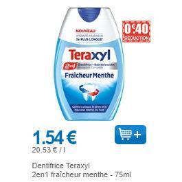 Dentifrice Teraxyl Menthe ou Junior 2en1 chez Leclerc (01/11 – 30/11)