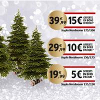 Intermarché : Jusqu'à 15€ en BA sur les Sapins de Noël (27/11 – 08/12)