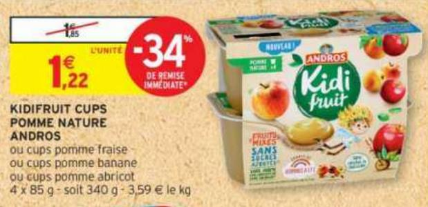 Kidi Fruit x4 chez Intermarché (05/11 – 17/11)