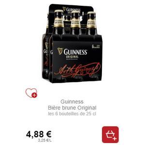 Bière Brune Original Guinness chez Intermarché (30/11 – 01/12)