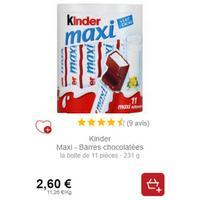 Kinder Maxi x10 chez Intermarché (01/11 – 30/11)