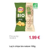 Chips 100% Bio Lay's partout (18/11 – 23/12)