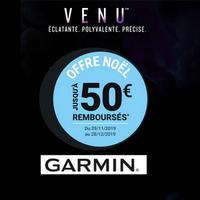 Offre de Remboursement Garmin : Jusqu'à 50€ Remboursés sur Montre Venu