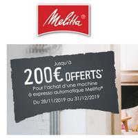 Offre de Remboursement Melitta : jusqu'à 200€ Remboursés sur Machine Expresso Automatique