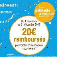 Offre de Remboursement SodaStream : 20€ Remboursés sur Machine