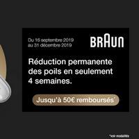 Offre de Remboursement Braun : Jusqu'à 50€ Remboursés sur Epilateur à Lumière Intense Pulsée