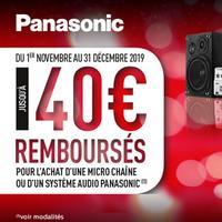 Offre de Remboursement Panasonic : Jusqu'à 40€ Remboursés sur Micro Chaîne ou Système Audio