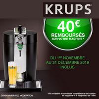 Offre de Remboursement Krups : 40€ Remboursés sur Beertender