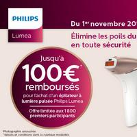 Offre de Remboursement Philips : Jusqu'à 100€ Remboursés sur Epilateur à Lumière Pulsée Lumea