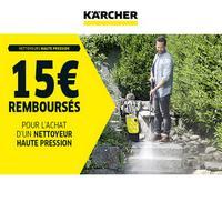 Offre de Remboursement Kärcher : 15€ Remboursés sur Nettoyeur Haute Pression