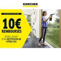 Offre de Remboursement Kärcher : 10€ Remboursés sur Nettoyeur de Vitres WV