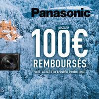 Offre de Remboursement Panasonic : Jusqu'à 100€ sur Appareil Photo Lumix