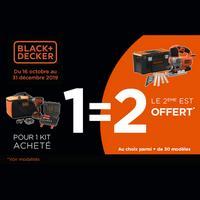 Offre de Remboursement Black + Decker : 2ème kits Noël 100% Remboursés