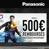 Offre de Remboursement Panasonic : Jusqu'à 500€ Remboursés sur Téléviseur