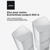 Offre de Remboursement Bose : Jusqu'à 500€ Remboursés sur Système Audio
